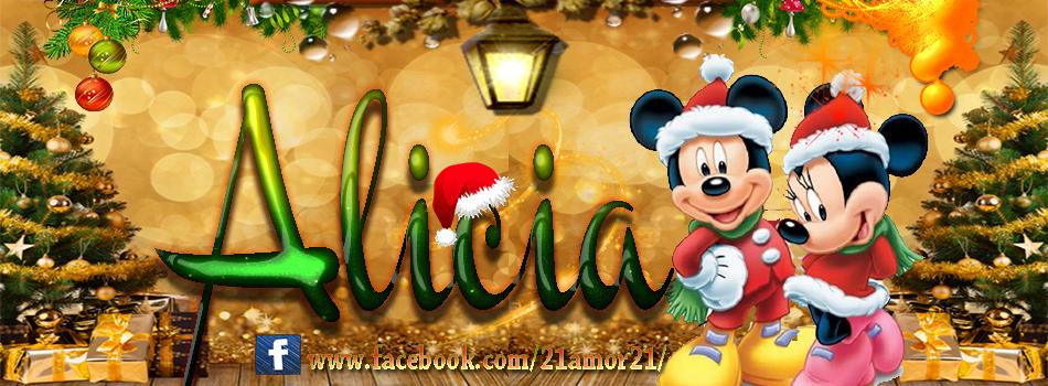 Portadas de Navidad con tu Nombre, de MICKEY, Alicia!!!