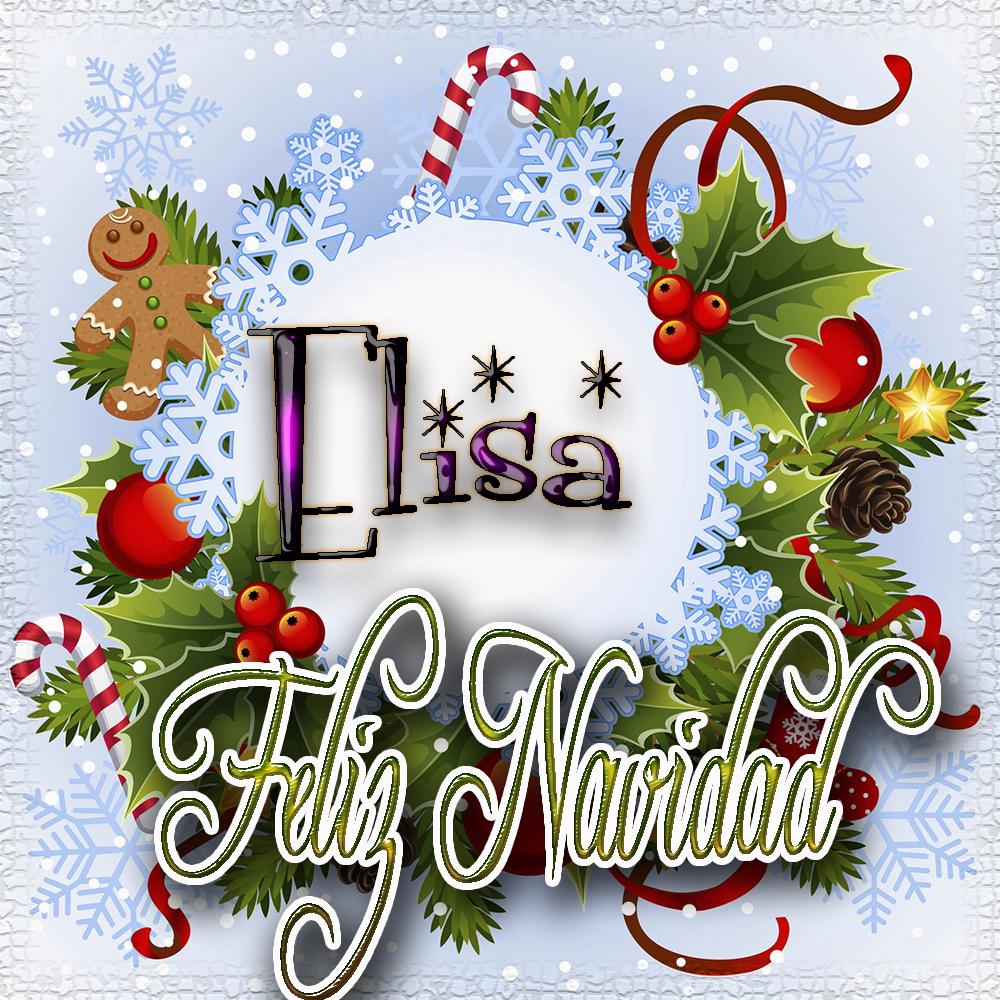 Feliz Navidad, Tarjetas con tu Nombre!!! Elisa