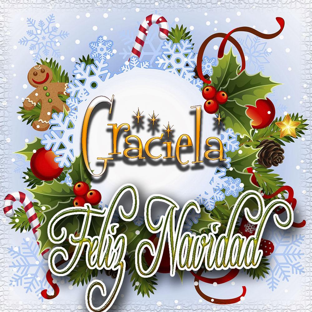 Feliz Navidad, Tarjetas con tu Nombre!!! Graciela