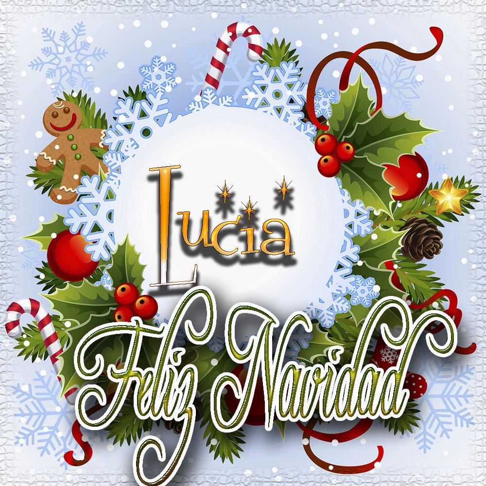 Feliz Navidad, Tarjetas con tu Nombre!!!  Lucia