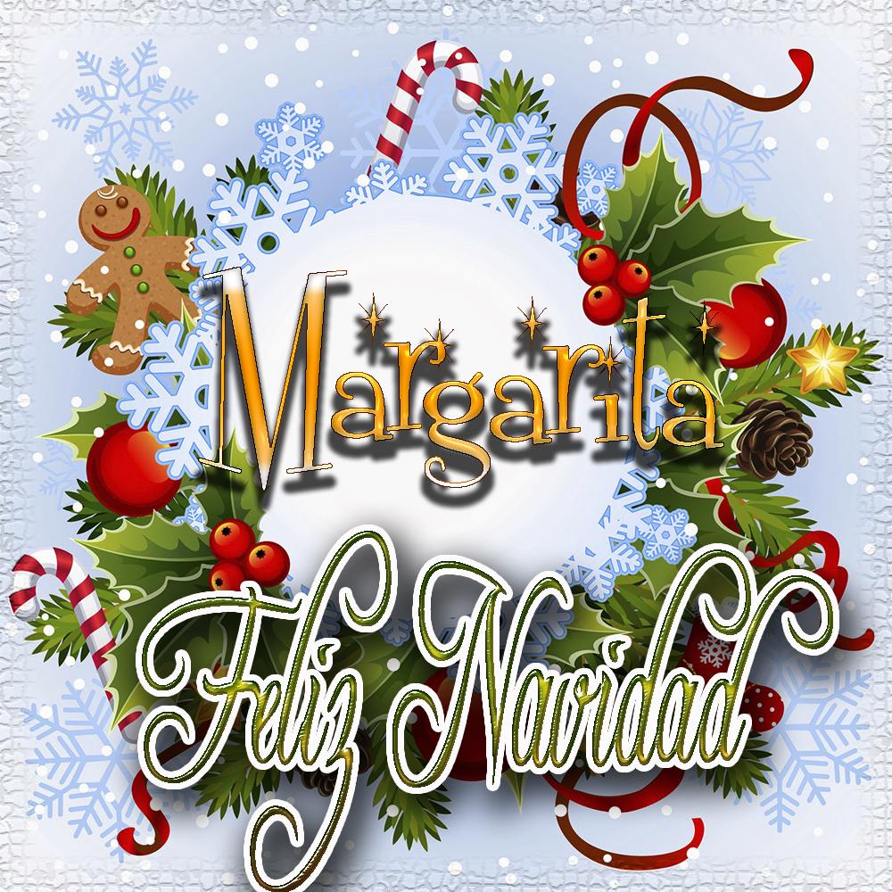 Feliz Navidad, Tarjetas con tu Nombre!!!  Margarita