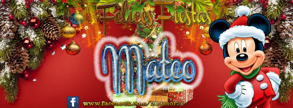 Portadas de Navidad con tu Nombre, de MICKEY,Mateo!!!
