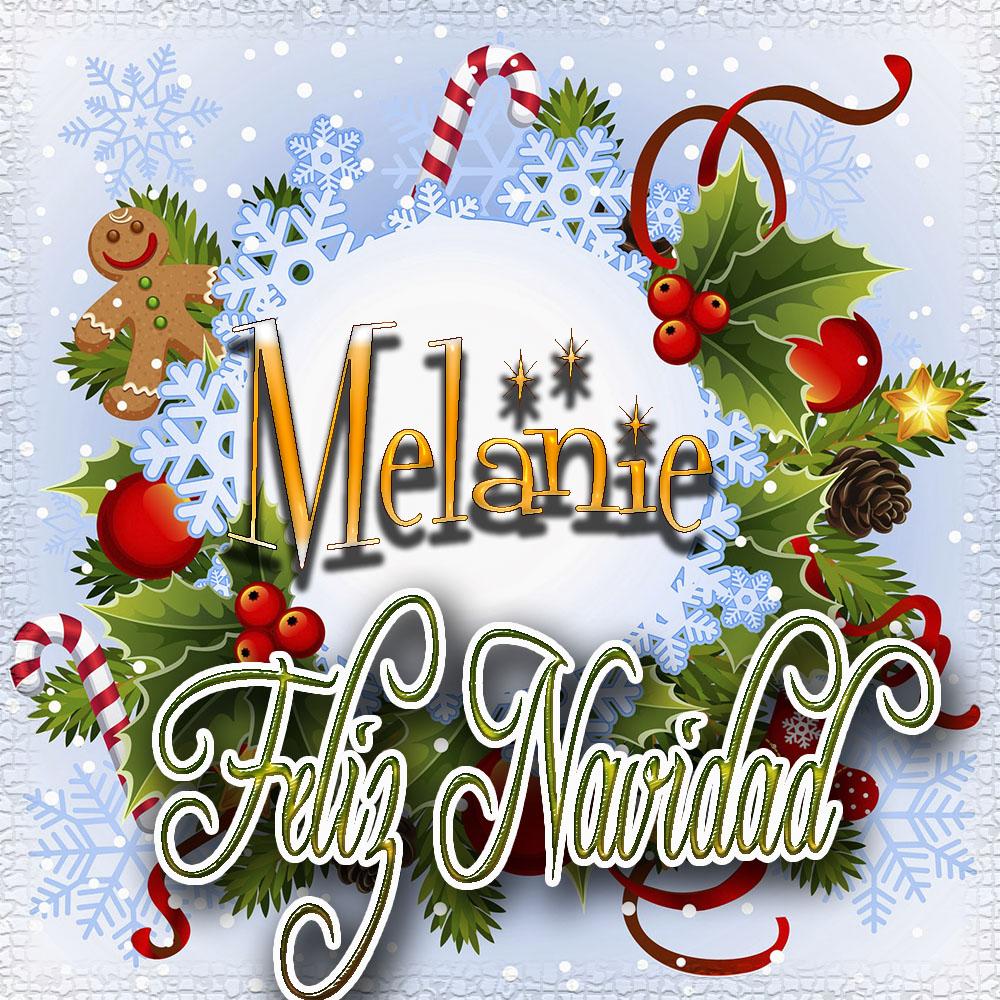 Feliz Navidad, Tarjetas con tu Nombre!!!  Melanie