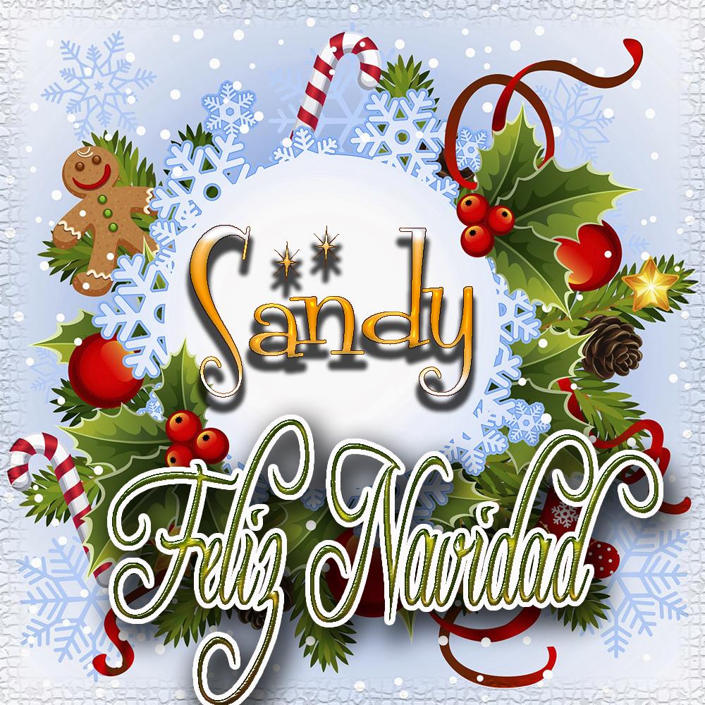Feliz Navidad, Tarjetas con tu Nombre!!! Sandy