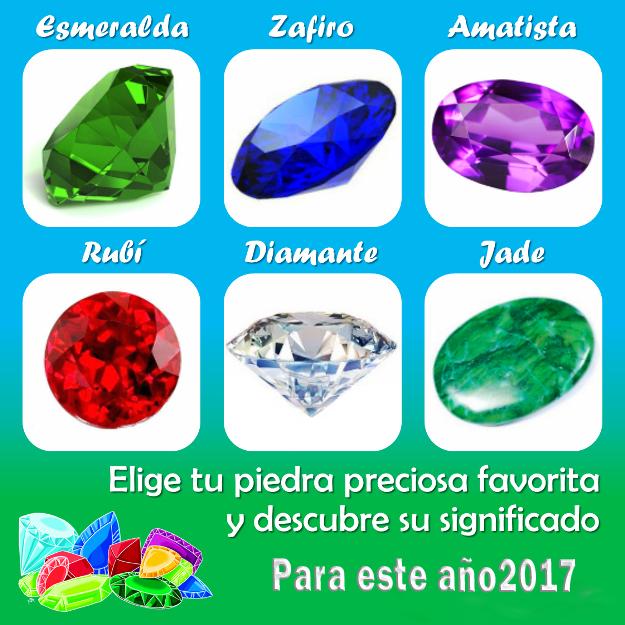 El test de las piedras preciosas