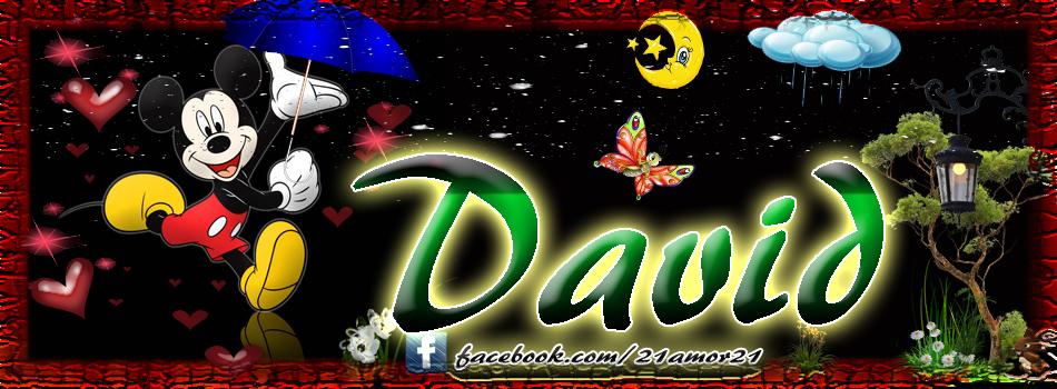 Portadas para tu Facebook con tu nombre, David