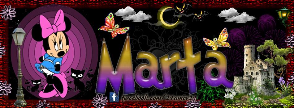 Portadas para tu Facebook con tu nombre, Marta