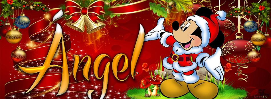 Portadas de Navidad con tu Nombre, de MICKEY,Ángel!!!
