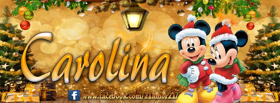 Portadas de Navidad con tu Nombre, de MICKEY, Carolina!!!