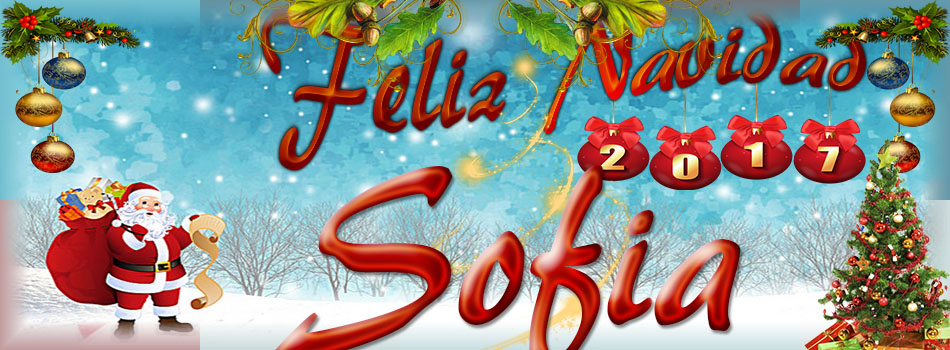 Portadas de Navidad con tu Nombre,Sofia