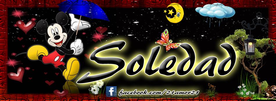 Portadas para tu Facebook con tu nombre, Soledad
