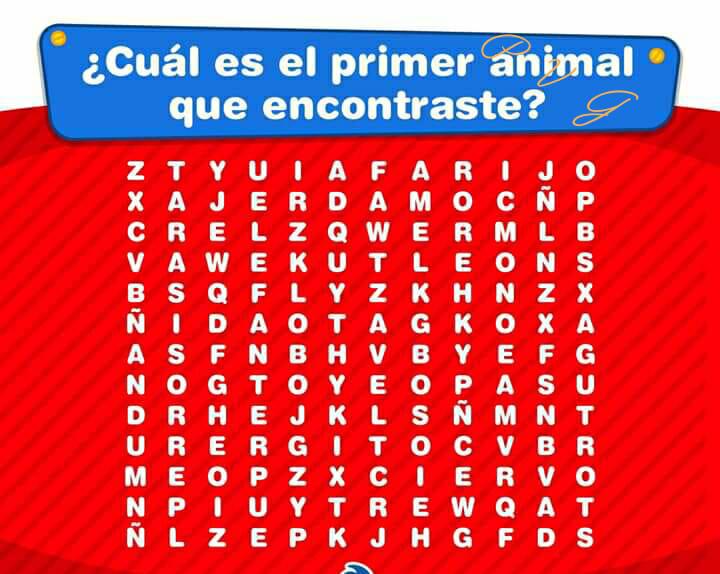 Cual es el primer animal que encontraste? Mira lo que esto significa