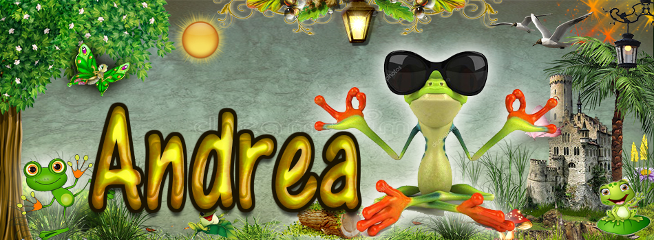 Portadas para tu Facebook de la Rana con tu nombre, Andrea