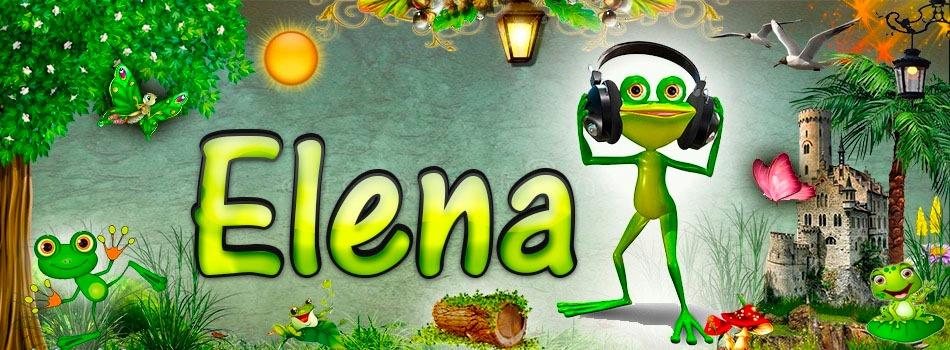 Portadas para tu Facebook de la Rana con tu nombre,Elena