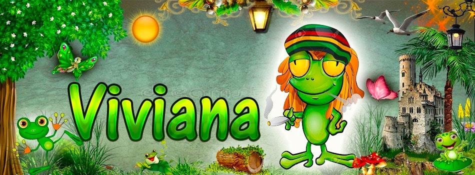 Portadas para tu Facebook de la Rana con tu nombre,Viviana