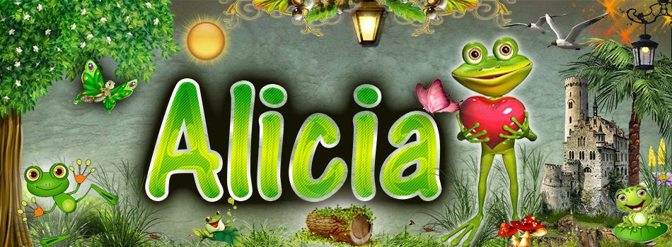 Portadas para tu Facebook de la Rana con tu nombre, Alicia
