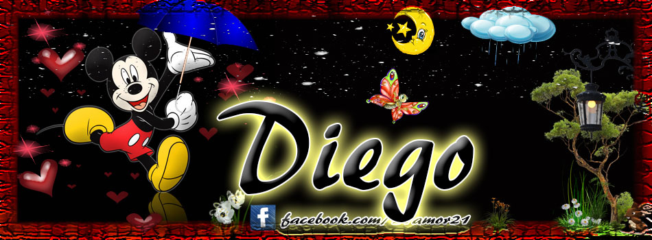 Portadas para tu Facebook con tu nombre,Diego