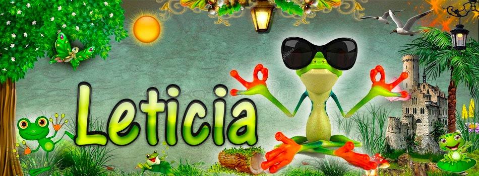 Portadas para tu Facebook de la Rana con tu nombre,Leticia