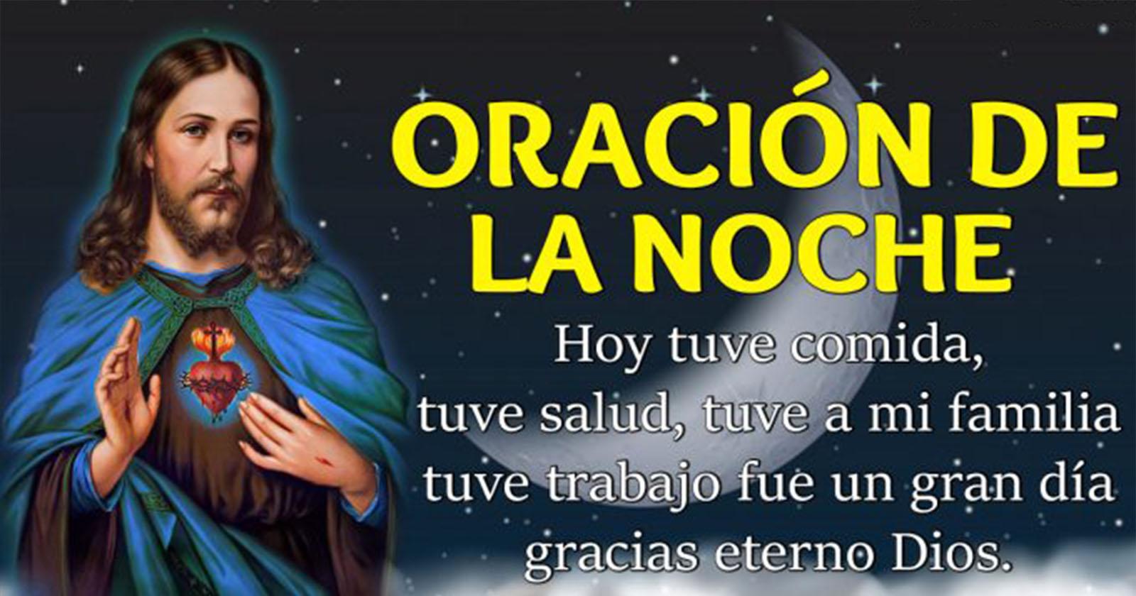 Oración de la Noche – Gracias Señor porque tengo un techo donde vivir