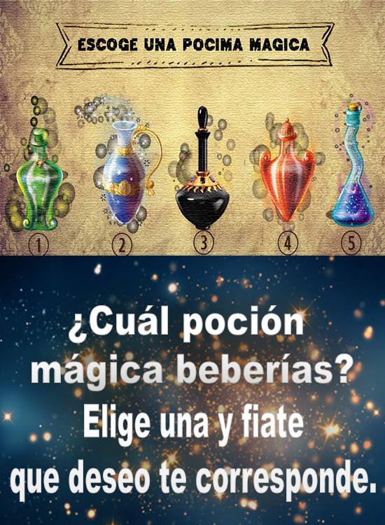 ¿Cuál poción mágica beberías?