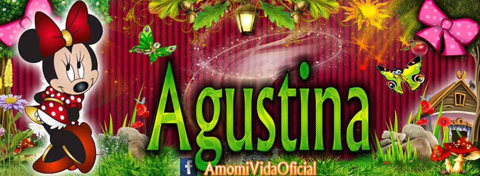 Nuevas Portadas para tu Facebook con tu nombre de Minnie y Mickey,Agustina