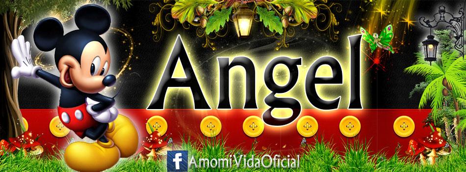 Nuevas Portadas para tu Facebook con tu nombre de Minnie y Mickey,Angel
