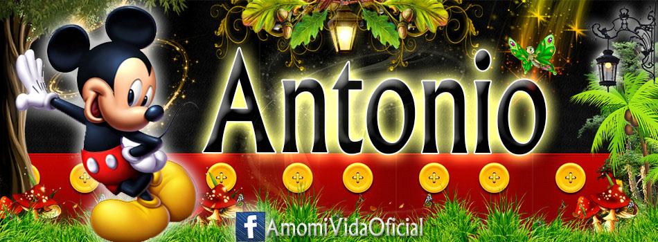 Nuevas Portadas para tu Facebook con tu nombre de Minnie y Mickey,Antonio
