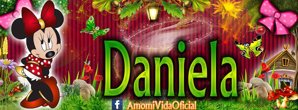 Nuevas Portadas para tu Facebook con tu nombre de Minnie y Mickey,Daniela