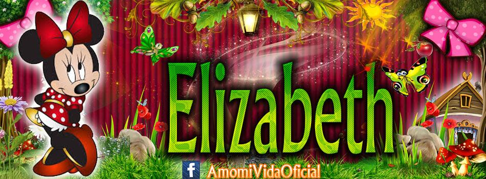 Nuevas Portadas para tu Facebook con tu nombre de Minnie y Mickey,Elizabeth