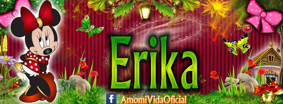 Nuevas Portadas para tu Facebook con tu nombre de Minnie y Mickey,Erika