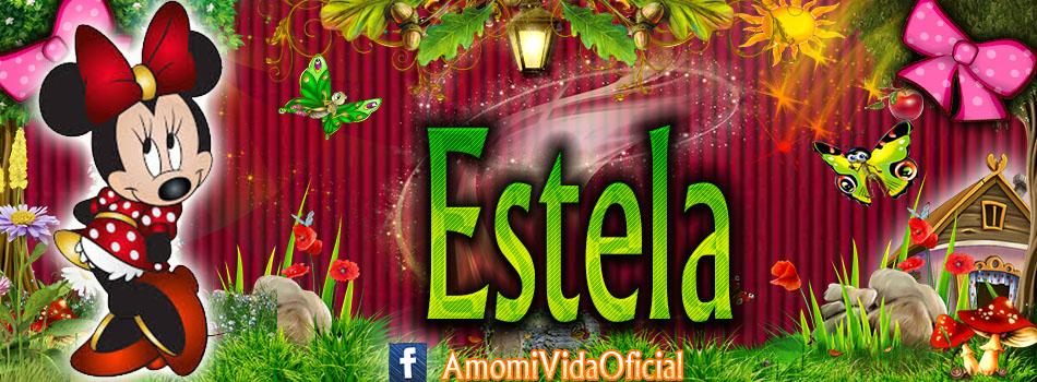 Nuevas Portadas para tu Facebook con tu nombre de Minnie y Mickey,Estela