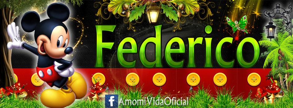 Nuevas Portadas para tu Facebook con tu nombre de Minnie y Mickey,Federico
