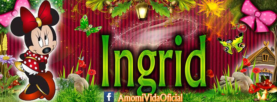 Nuevas Portadas para tu Facebook con tu nombre de Minnie y Mickey,Ingrid