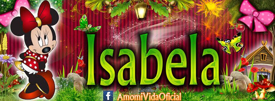 Nuevas Portadas para tu Facebook con tu nombre de Minnie y Mickey,Isabela