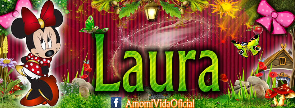 Nuevas Portadas para tu Facebook con tu nombre de Minnie y Mickey,Laura