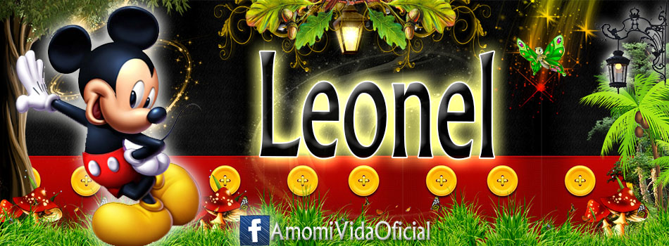 Nuevas Portadas para tu Facebook con tu nombre de Minnie y Mickey,Leonel