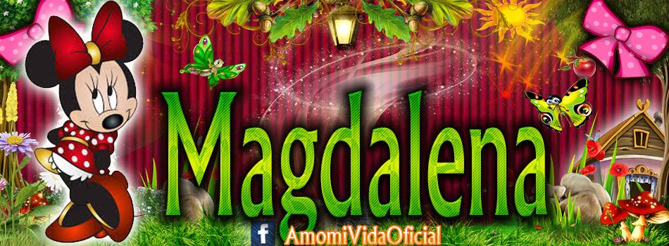 Nuevas Portadas para tu Facebook con tu nombre de Minnie y Mickey,Magdalena