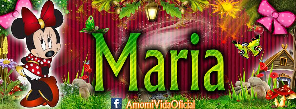 Nuevas Portadas para tu Facebook con tu nombre de Minnie y Mickey,Maria