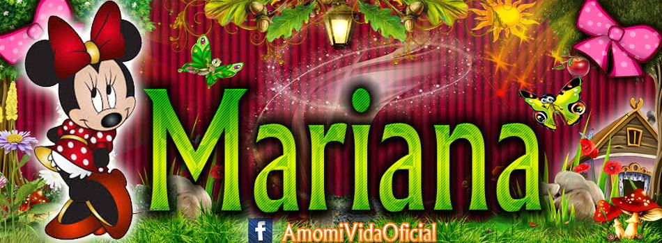 Nuevas Portadas para tu Facebook con tu nombre de Minnie y Mickey,Mariana