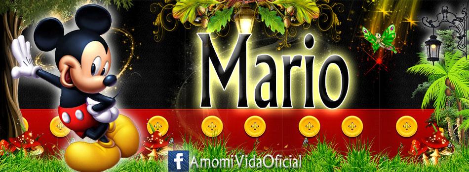 Nuevas Portadas para tu Facebook con tu nombre de Minnie y Mickey,Mario
