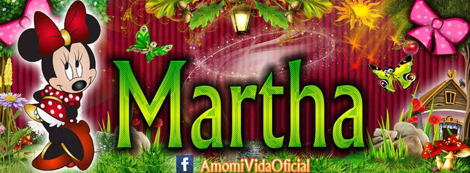 Nuevas Portadas para tu Facebook con tu nombre de Minnie y Mickey,Martha