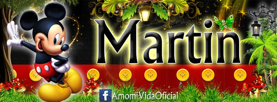 Nuevas Portadas para tu Facebook con tu nombre de Minnie y Mickey,Martin