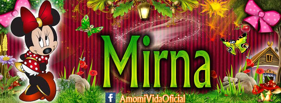 Nuevas Portadas para tu Facebook con tu nombre de Minnie y Mickey,Mirna