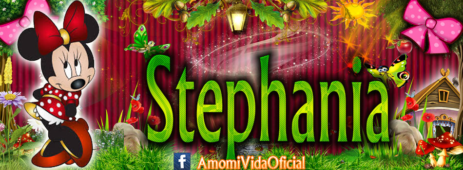 Nuevas Portadas para tu Facebook con tu nombre de Minnie y Mickey,Stephania
