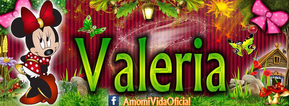 Nuevas Portadas para tu Facebook con tu nombre de Minnie y Mickey,Valeria