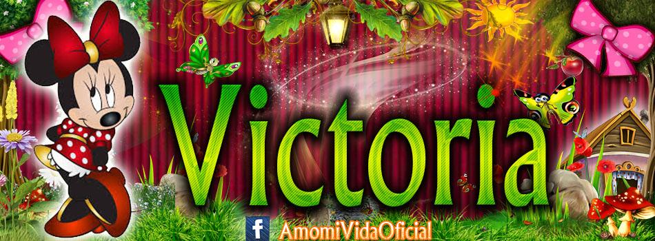 Nuevas Portadas para tu Facebook con tu nombre de Minnie y Mickey,Victoria