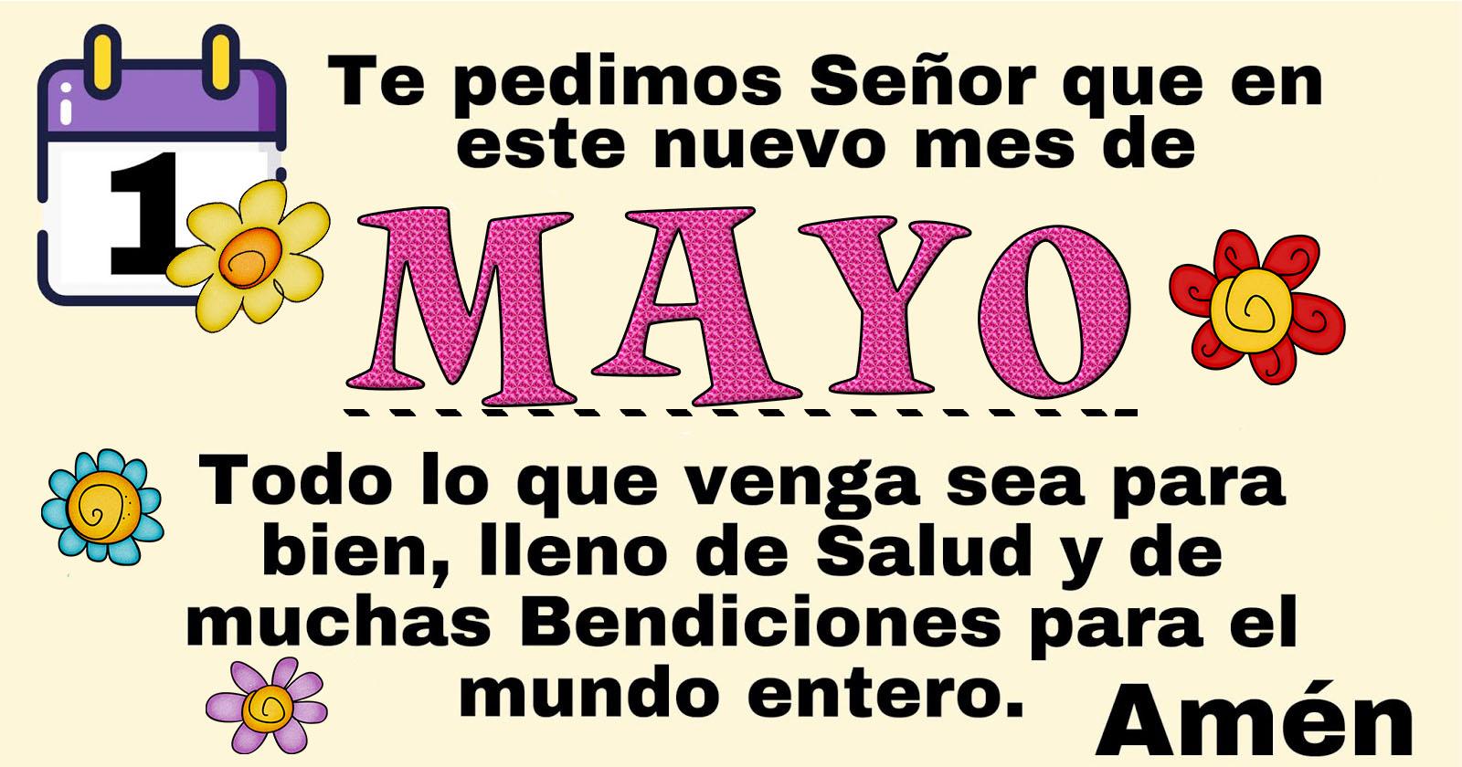 Oración de Bendición para iniciar el mes de Mayo