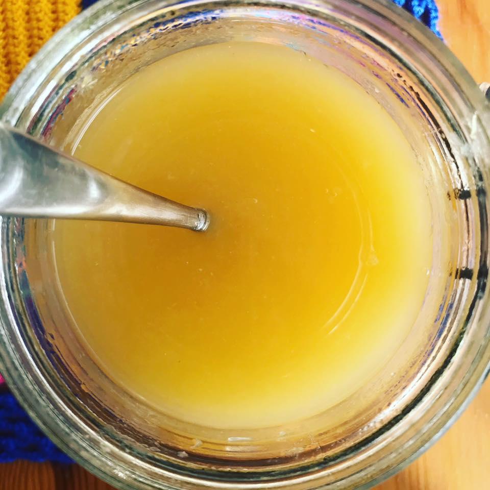 Jarabe natural de cebolla,ajo, jengibre y miel