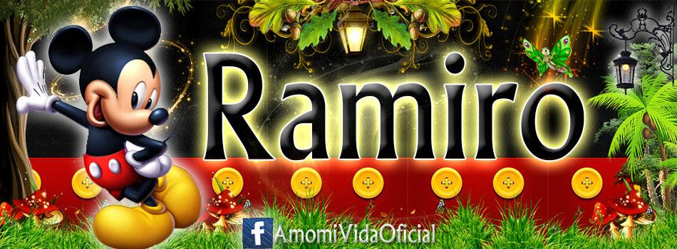 Nuevas Portadas para tu Facebook con tu nombre de Minnie y Mickey,Ramiro