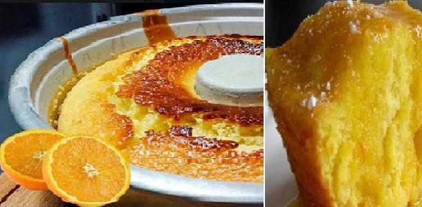 Bizcocho de Naranja Húmedo: mire bien la foto y imagina el sabor que no queda